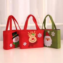 Armazenar suprimentos on-line-Saco de presente de natal caixa criativa papai noel boneco de neve sacos festival de natal enfeites de vestir livraria loja fontes do partido sacos