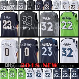 Wholesale Demarcus Cousins Jersey - 2018 New 32 Karl-Anthony Towns 22 Andrew Wiggins Jersey 23 Jimmy Butler Anthony Davis 0 DeMarcus Cousins Jerseys ORLEANS MINNESOTA All Star