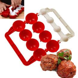 Wholesale Wholesale Meatballs - New Creative Plastic Meatballs Maker Fish Balls Molds DIY Stuffed Meat Ball Making Tool Kitchen Gadget Kitchen Tools Meat Tools
