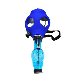 Wholesale Hookah Shisha Sale - Gas Mask Bong Hookah Water Pipe Multicolor Smoking Water Pipe Cool Unique Shisha Cheap for Sale