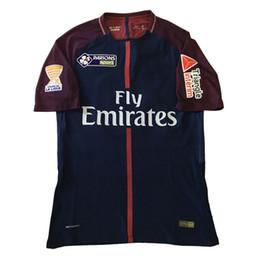 Wholesale Quick Match - 2018 Franch Coupe de la Ligue Paris Match Worn Player Cavani Neymar Jr Full Path Badge Fabric and Sewing