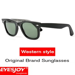 Wholesale European Sunglasses - Classic western style sunglasses polarized Square Frame Sunglasses for women mens European Style Mirror Gradient Lens sunglasses with case