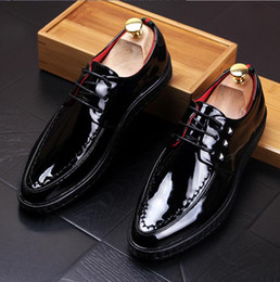 Wholesale Mens Wedding High Heel Shoes - New Mens Shoes Luxury Brand High Quality Genuine Leather Men's Casual Flats Loafers, Men Fashion Driving Shoes EU Size 37~44 nx2a33