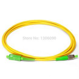 Wholesale Fiber Apc - 10PCS lot FC APC- SC APC 3M Simplex mode fiber optic patch cord Cable 2.0mm or 3.0mm FTTH fiber optic jumper cable free shipping