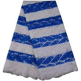Wholesale Top Quality African Fabrics - Top Quality African Embroidery Cord Lace Fabric Printing Beautiful Embroidered Guipure Lace Fabric For Party Dress
