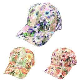 Fashion women hat streetwear Women Summer Floral Baseball Cap Snapback Caps  Hip Hop Hats ponytail baseball cap casquette femme s 1068fe2cdf3a