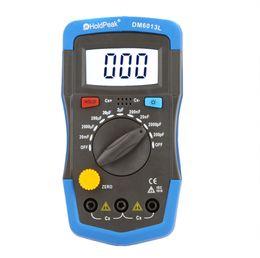 Wholesale Capacitor Meters - DM6013L Handheld Digital capacimetro Capacitance Meter Capacitor Electronic Capacitance Tester Diagnostic-tool + LCD Backlight