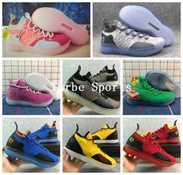 2018 KD 11 прохладный серый EYBL многоцветный мужская баскетбольная обувь плей-офф Спорт Брюс Ли Oreo синий зеленый Роза Красный Кевин Дюрант 11s кроссовки supplier blue grey kd shoes от Поставщики синие серые кд туфли