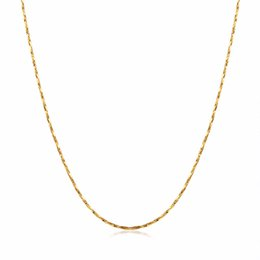 Wholesale Thin Pendants For Necklaces Wholesale - whole saleWomen's fine Thin Chain for pendant 18KGP Electroplate Gold Rose Gold Silver 0.5mm necklaces Chains Fastness to fading Chains