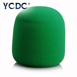 Wholesale Microphone Windshield Foam - Wholesale-YCDC Durable Foam Mic Cover Stage Microphone Windscreens Top Quality Practical Windshield Sponge Handheld