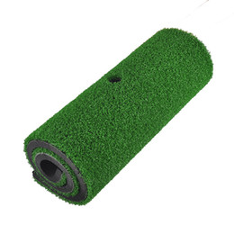 tee pad Promo Codes - Wholesale- PGM Brand Indoor Backyard Golf Mat Training Hitting Pad Practice Rubber Tee Holder Grass Mat Grassroots Green 60cm x 30cm