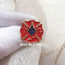 2019 emblemas de serviço 10 pcs Lodge Fireman Fire Service Esmalte Pinos e Broche Freemason Primeiro Respondente Masonic Lapel Pin Pedreiros Livre Emblema De Metal desconto emblemas de serviço