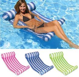 anillo de pato de juguete Rebajas 3 colores piscina de verano inflable flotante de agua ham-mock salón cama silla verano inflable piscina flotante cama flotante