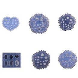 Flores de resina de arte de uñas online-2018 Nuevo Diseño 3D Molde de Silicona Flores Molde de Resina para DIY Fabricación de Joyas Nail Art Template Tools