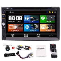 """Цифровое радио dvd-плеер mp4 онлайн-7 """"Двойной 2DIN Автомобильный DVD Плеер Bluetooth Цифровой Сенсорный Экран Автомобильный Стерео Радио HeadUnit AM / FM AUX USB / SD Сабвуфер SWC 3 UI"""
