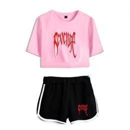 b1d6851fc5 pink short pants for women Promo Codes - Women Two Piece Outfits Revenge  Xxxtentacion 2 Piece