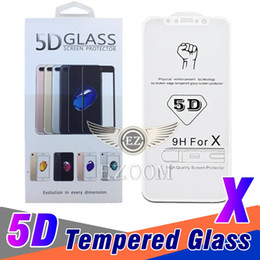 Wholesale Vs Cover - 5D Top quality For iPhone X 6 7 8 plus Tempered Glass Front Screen Protector Film Full Cover 5D VS 3D&4D Hard Curved Curved Edge