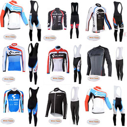 Wholesale thermal bib cycling - 2018 Cube Long Sleeve Cycling Jersey And Bib Pants Sets bike clothing Hot Sale Cycling Winter Thermal Fleece jersey C1008