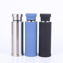 Wholesale Coffee Cup Warm - Stainless Steel Sports Cup Multi Color Outdoor Portable Water Bottle Heat Resisting Coffee Mug Leak Proof New 28sw C