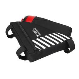 Botella negra bolsas online-B-SOUL Bike Triangle-Bag para bicicleta Front Frame Bag Ciclismo Top Tube Bag con botella de agua Pocket Bicycle Accessories (negro)
