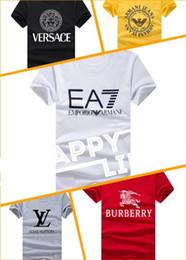 T-shirt LOGO di qualità estiva calda 2018, T-shirt di cotone manica corta  casuale, t-shirt nera bianca di grande marca sport maschile 419672e8f8d