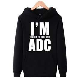 Hoodie do lol on-line-Eu sou hoodies ADC Hot jogo suor shirts Grupo lol jogar roupas de lã Pullover camisolas casaco de desporto Casacos ao ar livre