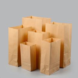 Carta sandwich all'ingrosso online-Sacchetti di pane dell'alimento del panino dei sacchetti del regalo del tè dell'alimento delle borse di carta di multi formato Kraft di alta qualità Commercio all'ingrosso di alta qualità