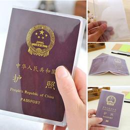 13.5 * 19cm PVC trasparente opaco polacco copertura passaporto chiaro ID Caso di copertura della carta per borse da viaggio passaporto da