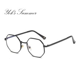 b0c21e3f3e Yok's Summer Anti Blue Ray Computer Gaming Glasses Mujeres Diseñador de la  marca Polygon Aleación Gafas Hombres Marco Lectura Anteojos WL045 designer  ...