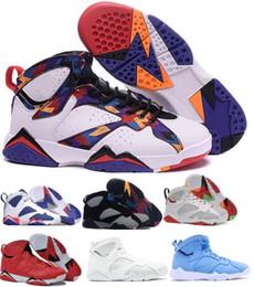 Zapatos de baloncesto n7 online-Zapatillas de baloncesto baratas 7 Hombres Mujeres 7s VII Púrpura UNC Burdeos Panton Olímpico Dinero puro Nada Raptor N7 Zapatos Zapatillas de deporte Zapatillas de deporte