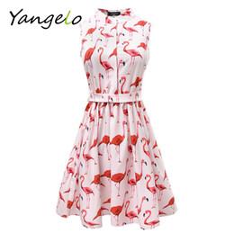 spaß beiläufige kleider Rabatt Vestods Sommer 2018 Frauen Kleid Erdbeere  Kaktus Flamingo Fun Flare Drucke Casual 2854829dde
