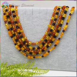 Wholesale Natural Amber Necklaces - Natural Baltic Amber 70cm Chips Necklace - Wholesale Price