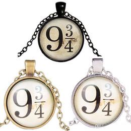 plate-forme 9 3 4 collier de cabochon de verre Argent Bronze Chaîne en or Temps Temps Fans Bijoux Ventilateurs ? partir de fabricateur
