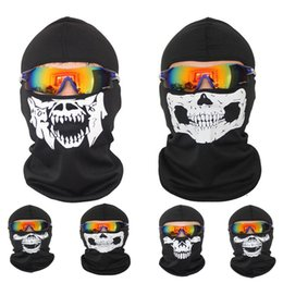 Wholesale Red Hood Cosplay - Hot Sale New Cycling Motorcycle skull ski mask Ride skeleton Hap Balaclava Hood Cosplay Costume Full Masks Outdoor sports scarf