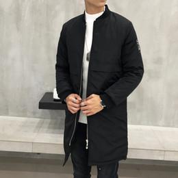 uomini di cappotto di trincea arancione Sconti 2019 di grandi dimensioni lungo bombardiere giacche uomini hip hop streetwear pattino collare baseball Tyga volo militare dimensioni Trench più