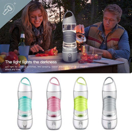 Wholesale Water Spray Bottles Wholesale - Sports Smart Water Bottle Mist Sprayer Portable Cool Beauty Spray Bottle with SOS LED Light OOA4622