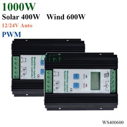 Wholesale Solar Panel Controllers 12v - 1000W Wind Solar Hybrid Controller 600W wind turbine 400W Solar Panel Charge Controller 12V 24V Auto with Big LCD Display