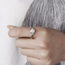 Rabatt Ring Mondstein 2019 Platinmondstein Ring Im Angebot Auf De