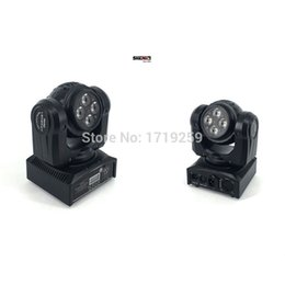 Wholesale Moving Head Usa - LED Wash Double Sides 4x10W+4x10 RGBW LED Stage Pattern Lamp ,15 21 Channel DMX 512 Rotating Moving Head for Indoor Disco Party
