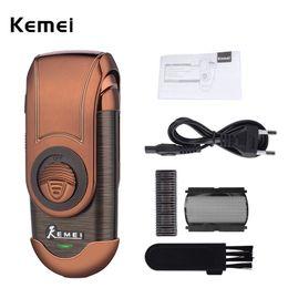 Rasoir électrique de rasoir 100-240V de rasoir électrique pour hommes rechargeables Kemei Portable Tondeuses Rasoir sans fil Hommes Épilation ? partir de fabricateur