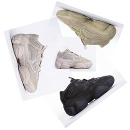 Wholesale cycling promotion - 2018 Promotion Boost 500 Desert Rat Kanye West Wave Runner 500 Sneakers Running shoes Athletic Sneaker Outdoor boots size 36-45 Free Shippin