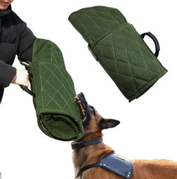 Wholesale dog bite toy - Free Shipping Dog Protection Bite Arm Sleeve for Training Schutzhund Police K9 Rottweiler German Shepherd Fit Left Right Hands