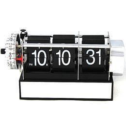 Wholesale Metal Decor Autos - Dynamic Flip Alarm Desk Clock Auto Modern Design Home Decor