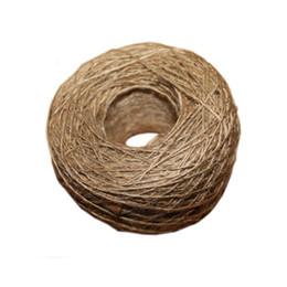 NEUE natürliche Jute Seil 1mm Soft 100M natürliche texturierte Hessischen Jute Twine Geschenkbox String Seil Floral Craft Hochzeit Tags Wrap Deco von Fabrikanten