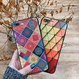 Wholesale 3d printed phone case - Pattern phone case Colorful Printing 3D TPU PC Mobile Phone Case Cell Phone Case For iPhone X 10 8 7 6 Plus
