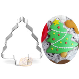 10pcs christmas tree cookie cutter metal biscuit tool fruit die cut sushi stamp sandwich mold baking cake pastry tools cupcake topper - Metal Christmas Cookie Cutters