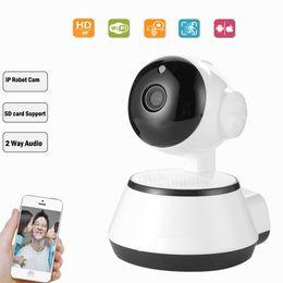 câmera de visualização ao vivo Desconto Câmera de segurança wi-fi monitor de bebê P2P câmera infravermelha pan-tilt com acesso remoto criança wi-fi câmera de vigilância ip cam sem fio