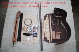 Tipos africanos on-line-41inch Taylor Cutaway G-Tipo de Guitarra Acústica DIY Kit de Mogno Africano Okoume Neck Rosewood Back Side Ébano Fretboard Spruce Top