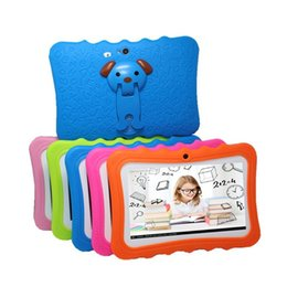 "A33 quad online-Tablet per bambini Tablet PC 7 ""Quad Core per bambini Android 4.4 Allwinner A33 google player wifi cover protettiva per altoparlante grande"