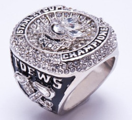 Wholesale Hawk Rings - Newest Men fashion jewelry 2015 Black hawks championship ring sports fans collection souvenirs Christmas boyfriend gift